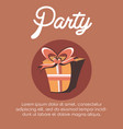 party and gift box design vector image vector image