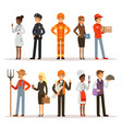 people group in different professions fireman vector image