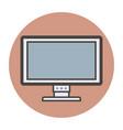 personal computer monitor vector image