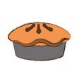 pie dessert food vector image vector image