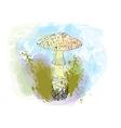 poisonous mushroom vector image