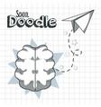 school supplies doodle vector image vector image