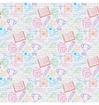 seamless pattern back to school on notebook vector image vector image
