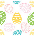 seamless pattern wirh ornate easter eggs vector image vector image