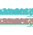 seascape banners vector image vector image