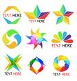 set calligraphic design logo elements vector image vector image
