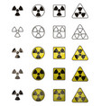 set of icons with sign of radiation collection of vector image vector image