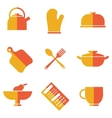 set of kitchen utensils icons vector image vector image