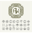 set template to create monograms two letters vector image vector image