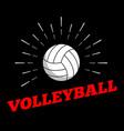 sport ball logo icon sun burtst print hand drawn vector image vector image