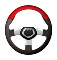 sports steering wheel vector image