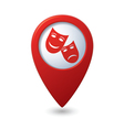 theater icon red pointer vector image