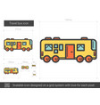 travel bus line icon vector image vector image