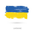 ukraine colorful brush strokes painted national vector image vector image