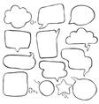 speak cloud bubbles set vector image
