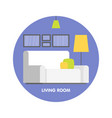 modern living room interior design icon vector image