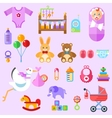 waiting for a baby All the newborn girl stuff vector image