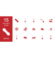 15 snow icons vector image vector image