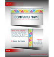 A multi-colored business card vector image vector image