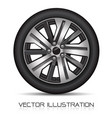 aluminum wheel car tire on white background vector image