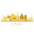 austin texas usa city skyline golden silhouette vector image vector image
