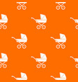 baby carriage pattern seamless vector image vector image