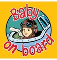 Baby on Board pilot vector image vector image
