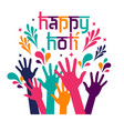banner design happy holi celebration card vector image
