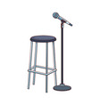 bar stool and microphone stand icon vector image vector image