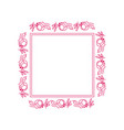 beautiful rectangle floral frame 01 vector image vector image