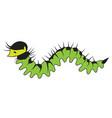 big cartoon caterpillar vector image vector image