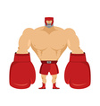 Boxer Athlete in protective helmet Strong man in vector image vector image