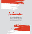 brush painted indonesia flag hand drawn style vector image