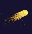 cartoon of comet with golden vector image vector image