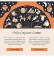 Child and baby care center web or card template vector image vector image