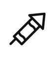 christmas rocket icon fireworkscelebration symbol vector image vector image
