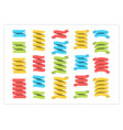 colorful ribbon template banner collection vector image vector image