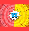 comic elegant bright rivalry background vector image vector image