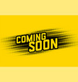 coming soon halftone style design background vector image vector image