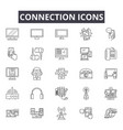 connection line icons signs set outline vector image vector image