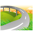 Country Highway vector image vector image