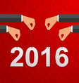 Creative happy New Year design vector image