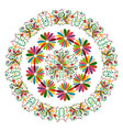 ethnic mexican tapestry with embroidery floral vector image