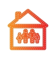 Family sign Orange applique isolated vector image vector image
