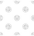 female polar bear pattern seamless vector image