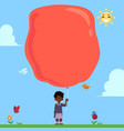 flat african black boy child air balloon vector image vector image