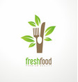 fresh food logo design vector image vector image