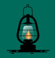 gas lamp symbol with fire flame vector image vector image