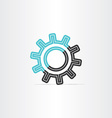gear icon logotype symbol design vector image vector image