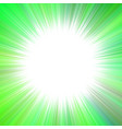green hypnotic abstract starburst background vector image vector image